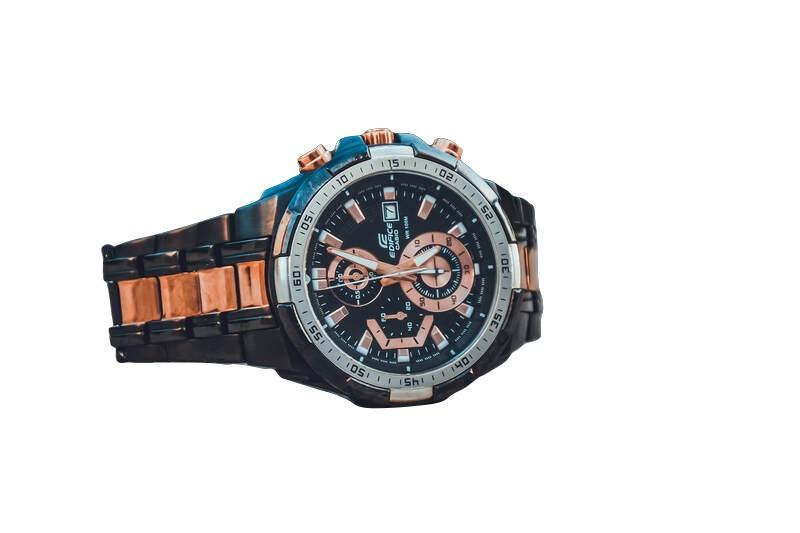 Wrist watch with transparent backround